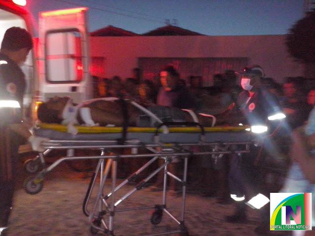Homem foi levado para hospital (Crédito: Reprodução)