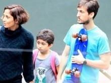 Camila Pitanga e filha adotam novo visual em passeio de família