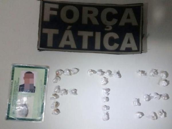 Droga encontrada com o menor em Picos (Crédito: Divulgação)