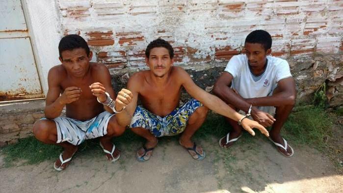 Parte dos presos no Morro da Esperança (Crédito: Reprodução)