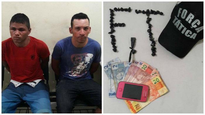 Homens foram presos no loteamento HBB (Crédito: Reprodução)