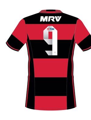 Imagem mostra como ficará a camisa  rubro-negra  (Crédito: Reprodução)