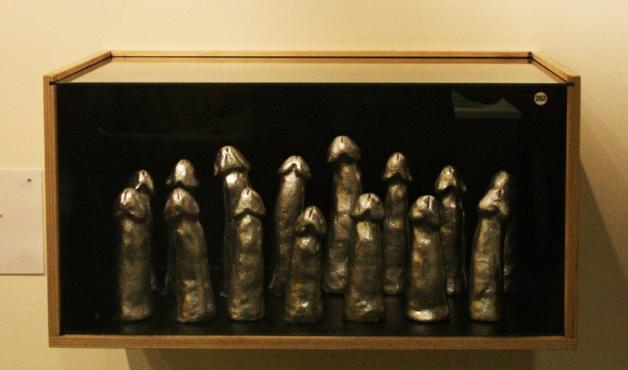 Reproduções dos pênis da equipe de handball da Islândia (Crédito: Reprodução)