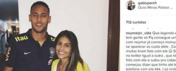 Modelo tira onda com Marquezine ao tietar Neymar e é xingada