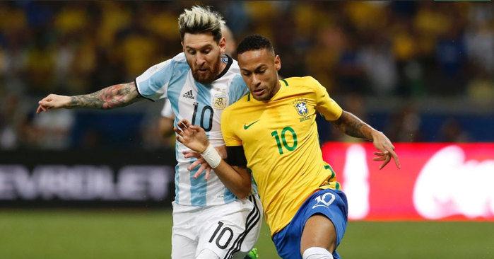 Brasil dá show na Argentina (Crédito: AFP)