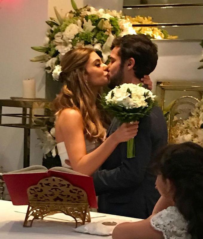 Jayme Matarazzo e Luiza Tellechea se casam no Rio