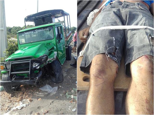 Colisão entre moto e carro deixa duas vítimas no Maranhão (Crédito: Reprodução)
