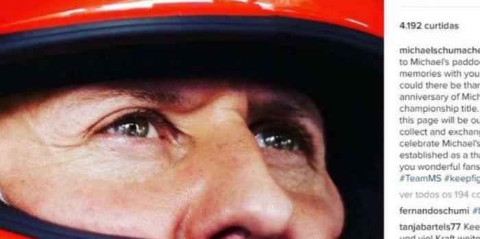 Michael Schumacher estreia seus novos perfis nas redes sociais