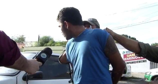 Homem acusado de agredir a esposa (Crédito: Rede Meio Norte)