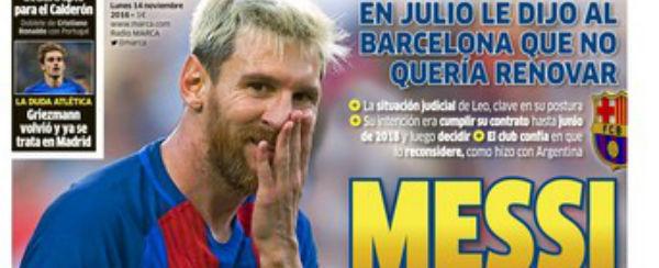Jornal afirma que Messi não pretende renovar com o Barcelona