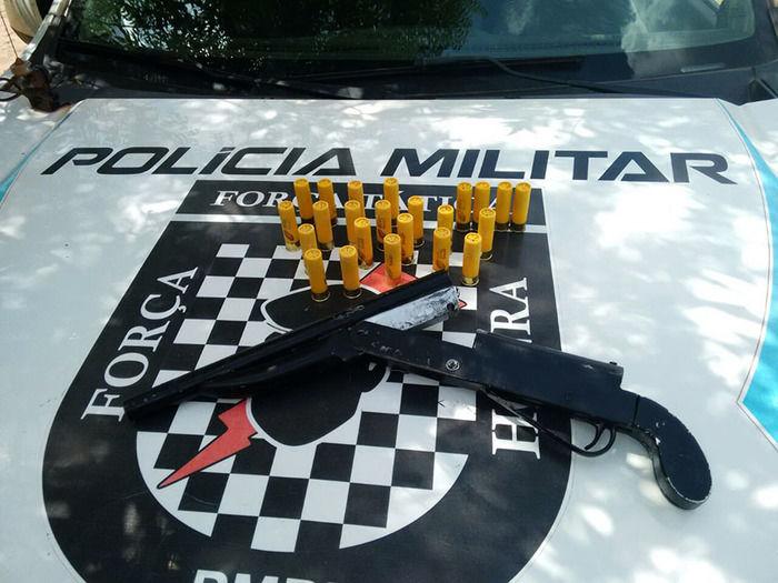Arma apreendida com Wellington José Rocha Santos (Crédito: Divulgação)