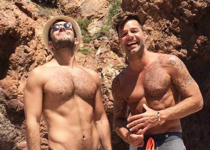 Jwan Yosef  ao lado de Ricky Martin