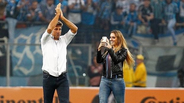Carol Portaluppi, filha de Renato Gaúcho, acompanhou pai após Grêmio x Cruzeiro (Crédito: Reprodução)