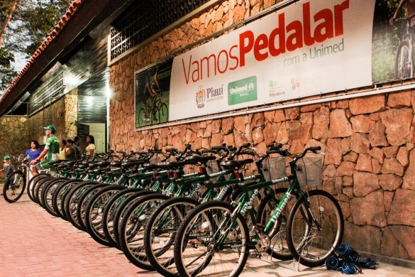 Bicicletário do Parque Nova Potycabana (Crédito: Jorge Henrique Bastos)