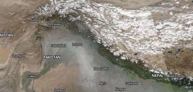 Poluição da Índia pode ser vista do espaço
