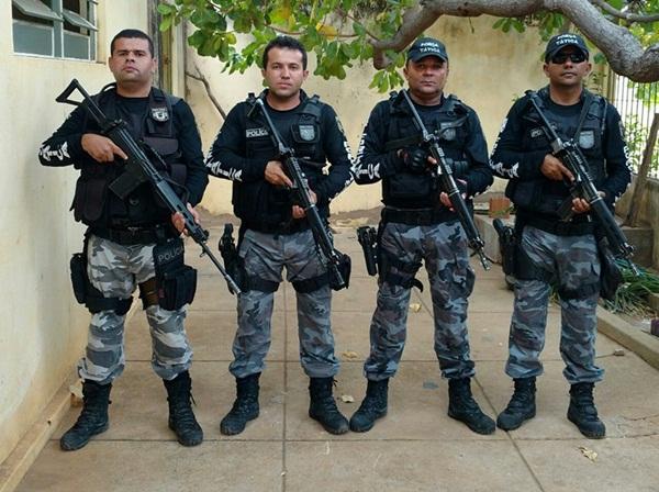 Policiais que participaram das ações (Crédito: Divulgação)