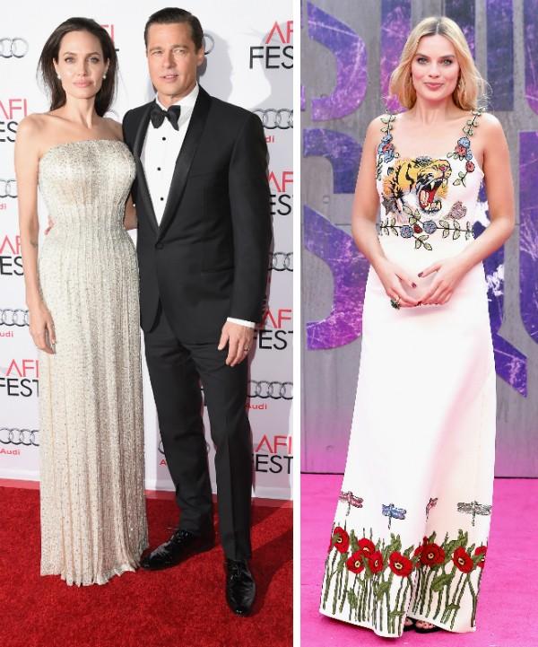 Jolie, Brad e Margot Robbie