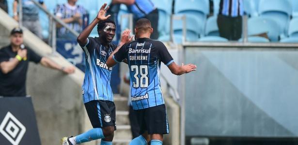 Negueba fez o segundo gol do Grêmio contra o lanterna América-MG (Crédito: Estadão)