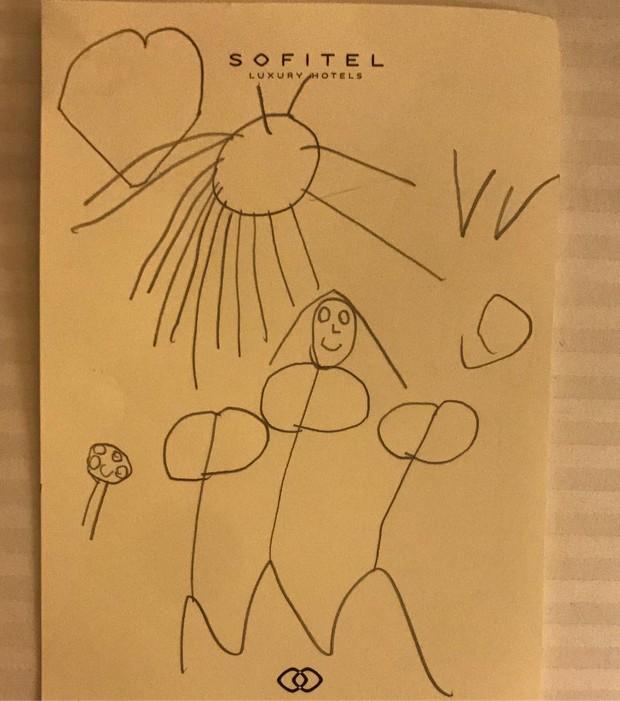 Grazi Massafera posta desenho de Sofia (Crédito: Reprodução)