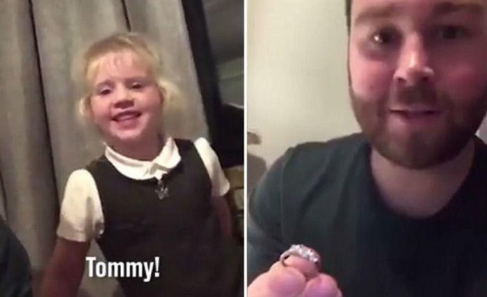 Criança levou anel de diamantes para pedir colega em casamento