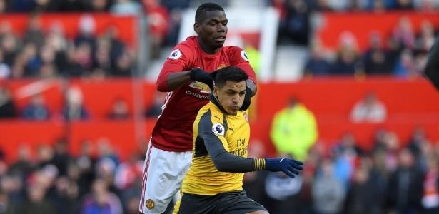 Clássico entre United e Arsenal acabou empatado por 1 a 1 (Crédito: AFP)