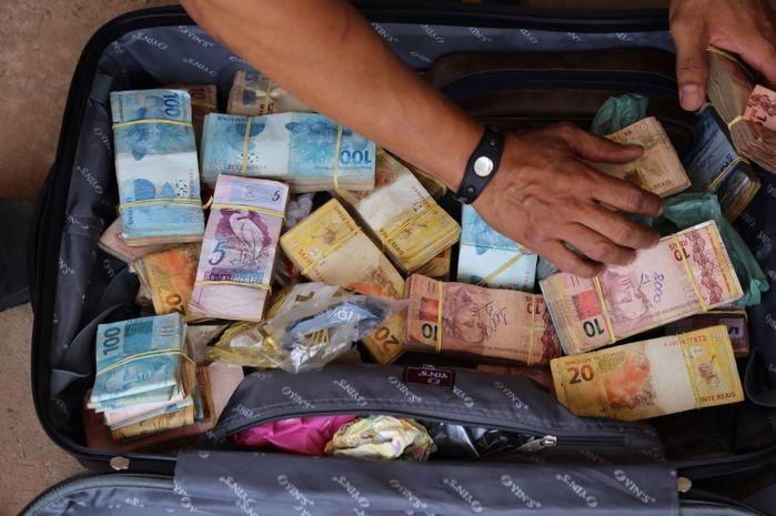 Dinheiro apreendido pela Depre em Teresina (Crédito: Divulgação)