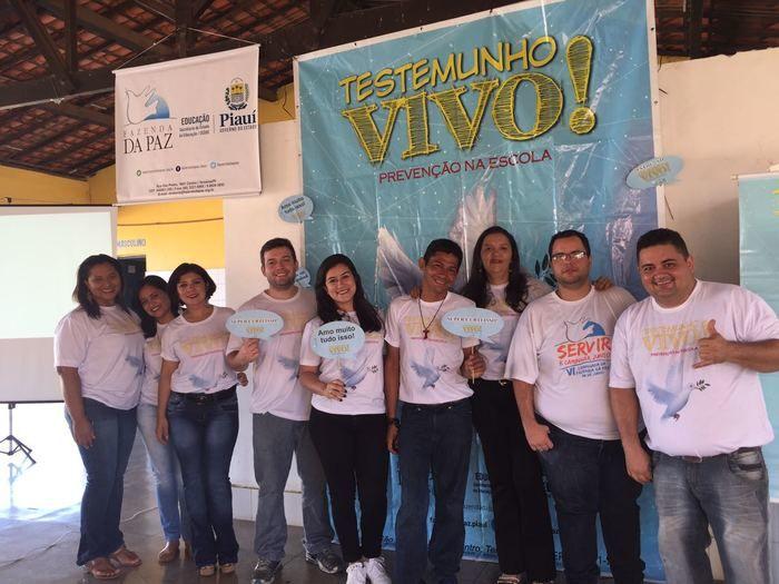 Fazenda da Paz realiza projeto testemunho vivo em escolas do Piauí (Crédito: Francelino Carvalho)