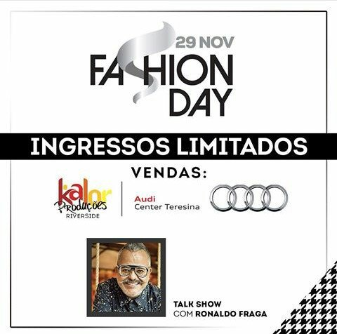 Talk show com Ronaldo Fraga será dia 29 na  Audi Center Teresina
