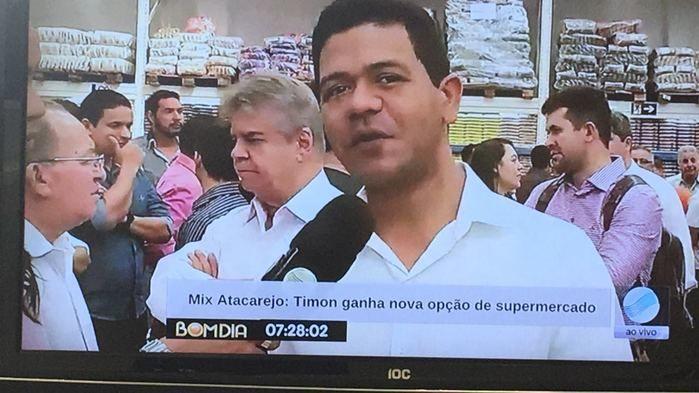 Prefeito Luciano Leitoa participa da inauguração do Mix Atacarejo Mateus em Timon (Crédito: Reprodução)