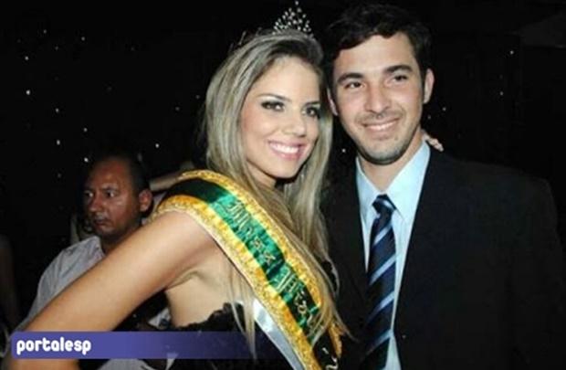 Renata Lustosa ao lado do ex-companheiro,  Leonardo Ramos Henriques (Crédito: Reprodução)