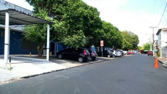 Obras de asfaltamento no Parque Piauí
