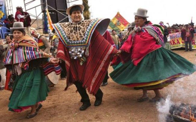 Chuvas já eram previstas em La Paz e em seus arredores para domingo e, pouco tempo depois da dança, as previsões se concretizaram  (Crédito: Reprodução)