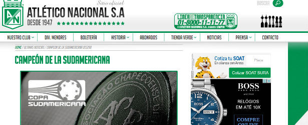 Atletico Nacional pede a entrega do título da Sul-Americana à Chape