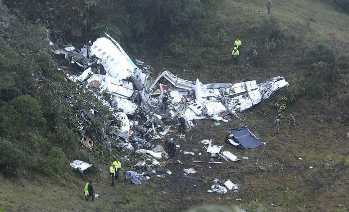 Aeronave Avro RJ85, da LAMIA, que caiu na Colômbia deixando ao menos 75 mortos (Crédito: Associated Press)