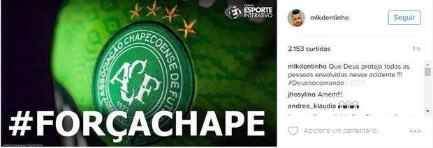 Famosos lamentam queda de avião com equipe da Chapecoense
