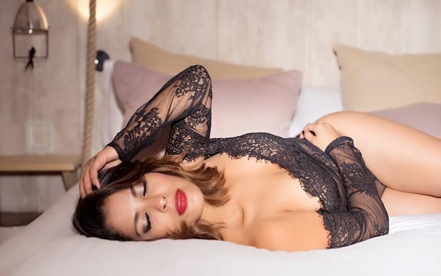 Gyselle Soares posa de lingerie: 'Sou mais sexy pela manhã' (Crédito: Patricia Carneiro / Puplic e GMP assessoria)