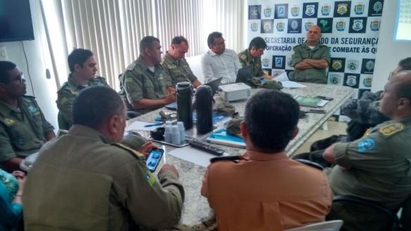 Fábio Abreu apresenta plano de segurança Enem 2016 para Batalhões da PM/PI (Crédito: Reprodução)
