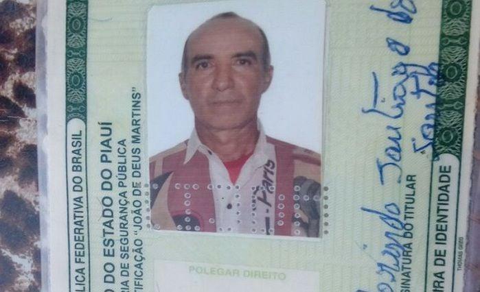 Francisco Florindo Santiago dos Santos (Crédito: Realidadeemfoco)