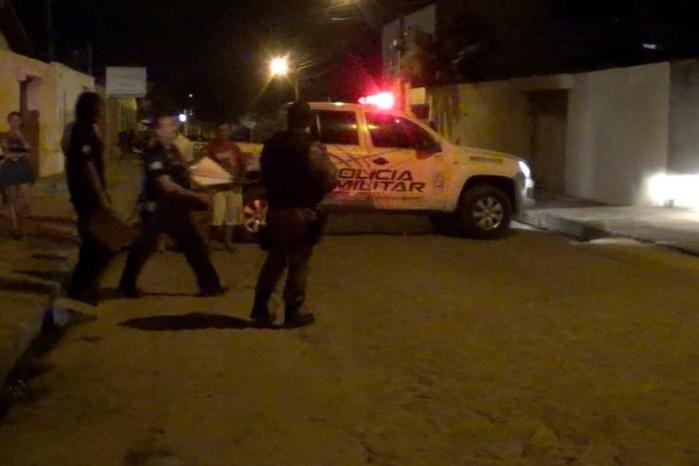 Local onde ocorreu a morte com dois feridos (Crédito: Rede Meio Norte)
