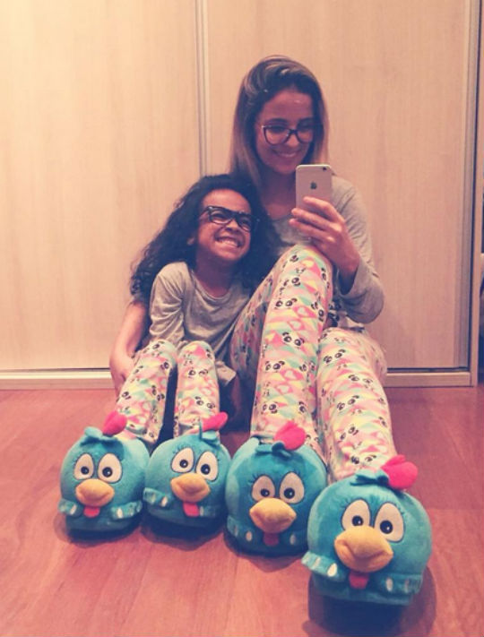 Renata e sua filha Rafaela