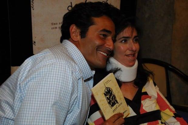 Luciano Szafir com a irmã, Alexandra,