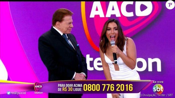 Silvio Santos e Anitta no Teleton (Crédito: Reprodução)