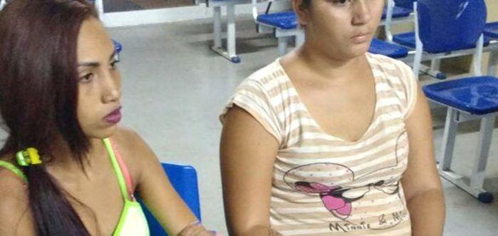 """Dionalda Moura Sousa e Diorrane Moura Sousa, as """"irmãs do tráfico"""" (Crédito: Divulgação)"""