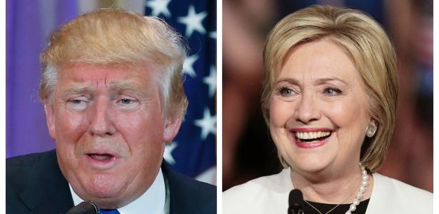 Hillary lidera com 48% contra 44% de Trump  (Crédito: Divulgação)