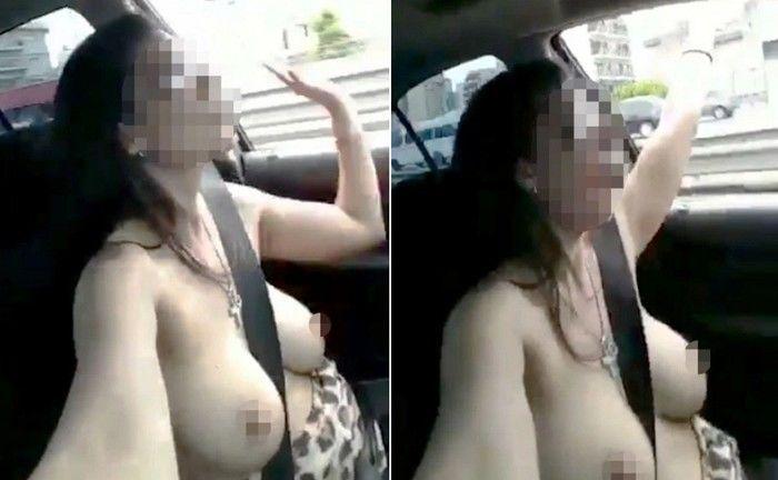 Vídeo de mulher dirigindo de topless após balada bomba na web