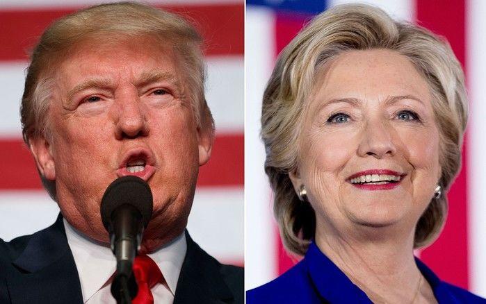 Donald Trump e Hillary Clinton (Crédito: Reprodução)