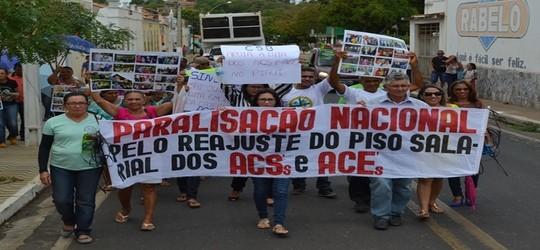 Manifestação em prol dos agentes de saúde é realizada em Valença