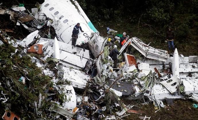 Acidente com avião da Chapecoense matou 71 pessoas (Crédito: Agência Reuters)