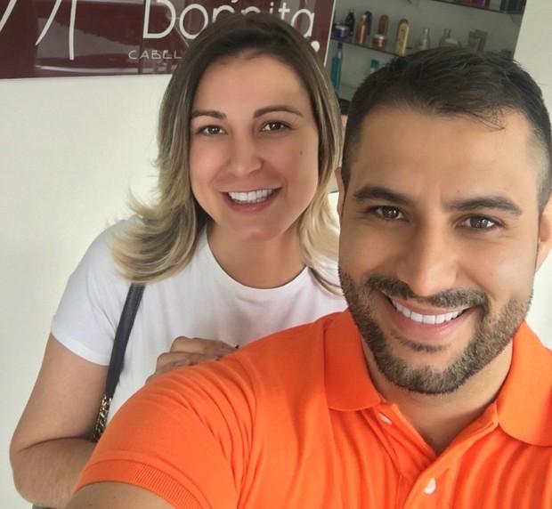 Andressa Urach e marido  (Crédito: Arquivo Pessoal)