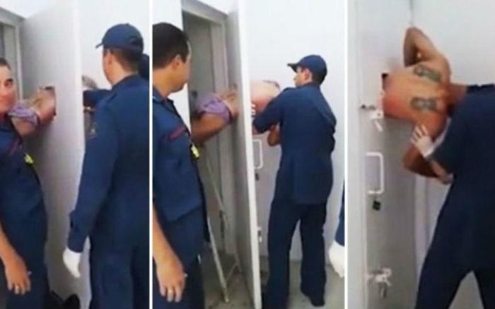 Detento ficou entalado na própria cela